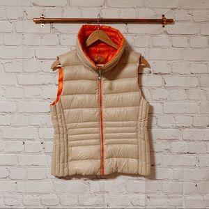 Vince Camuto tan/orange down puffy vest